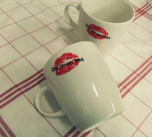 주문제작 프로포즈컵.   당신을 향한 붉은 입술. 립스틱 머그컵,  프로포즈컵이 궁금하시다면 검색창에 대전 토모공방을 쳐보세요~^^