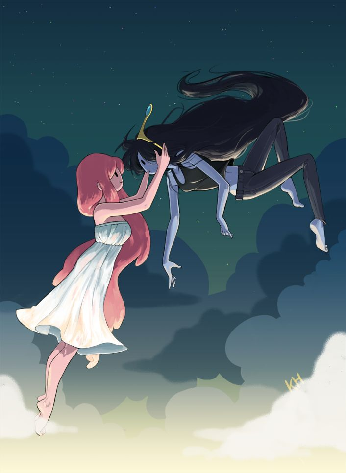 bubblegum & marceline - adventure time