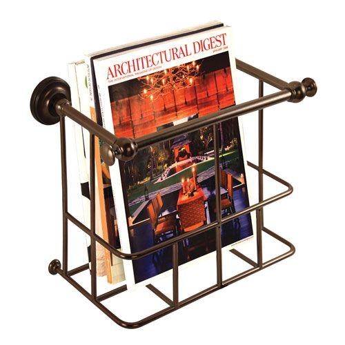 $80 Bronze Traditional Magazine Rack Gatco Magazine Holders Magazine Holders Home Decor