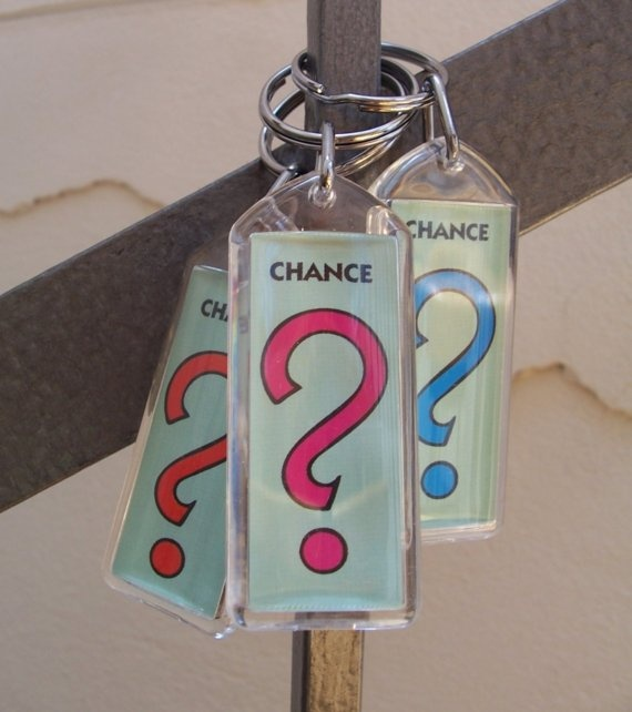 Monopoly key chains, could make mini drink charms, wine charms, #theme #party #event