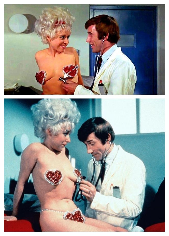 Barbara Windsor and Jim Dale, Carry On Again Doctor.