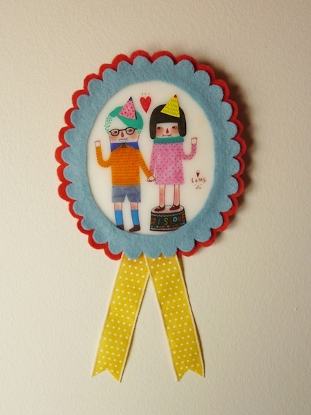 Shrink plastic happy birthday button...adorable!