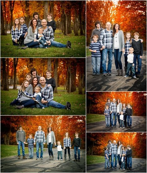 Stillwater Oklahoma 74074 Family Photographer | Family of 7 Poses | Large Family Poses