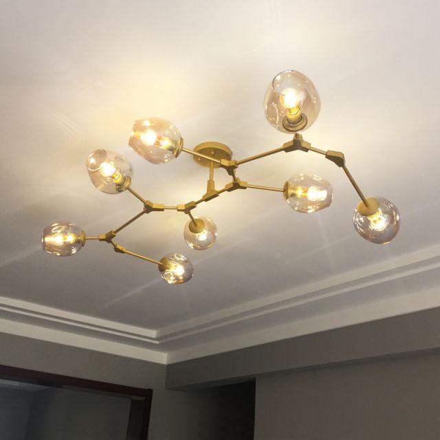 5 6 7 8 Light Modern Fairfax Chandelier Close To Ceiling Light
