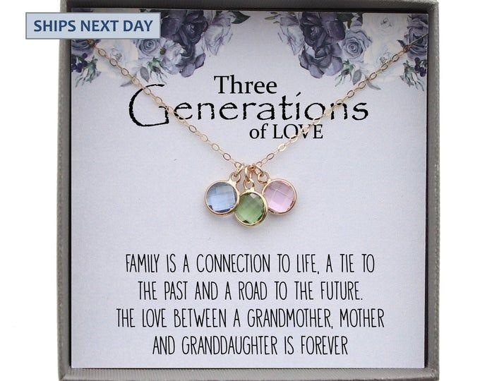 Grandma Mom Daughter Necklaces Generations Of Love Grandmother