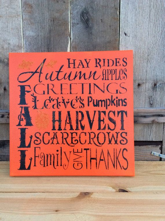 Fall canvas by coppermill on Etsy