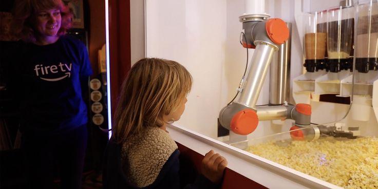 Amazon crée une machine à pop-corn qui adapte les saveurs au film que vous allez voir