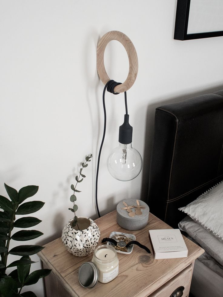 Converting A Muuto E27 Pendant Lamp Into A Bedside Lamp Style Minimalism Modern Wall Lamp Bedside Lamp Lamp Decor