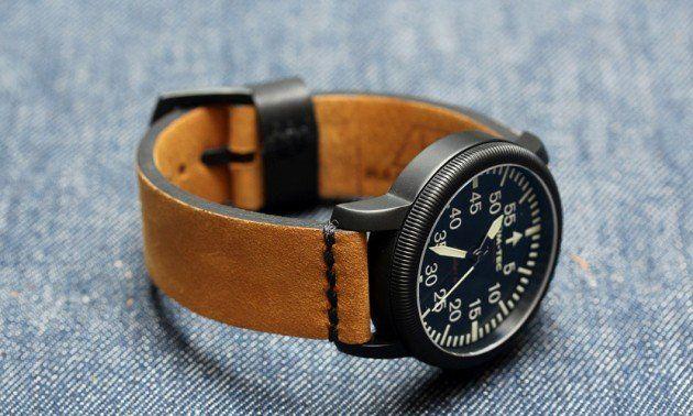 worn Leather NATO Watch Strap