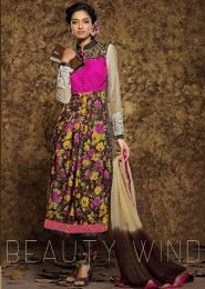 Multi Colour Modal Print Party Wear Embroidered Work Straight Suit