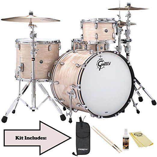 Gretsch USA Brooklyn Series 4 Piece Drum Shell Pack Vintage Creme Oyster Acoustic Set Yamaha Pearl Kit Kids Toddler