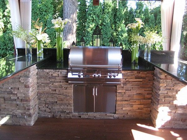 1000 ideas about built in bbq grill on pinterest built for Built in barbecue grill ideas