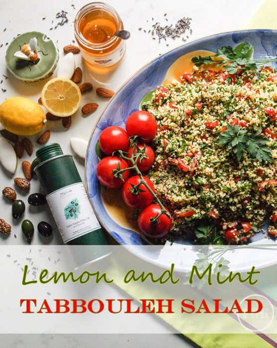 Lemon and Mint Tabbouleh Salad - a fresh and flavourful mediterranean salad #tabbouleh #salad