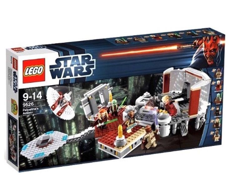 New In Sealed Box Lego Star Wars Palpatines Arrest 9526 Free Shipping!!!