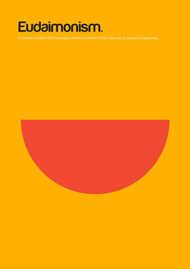Eudaimonism | 18 Minimalist Posters For Philosophy Fans