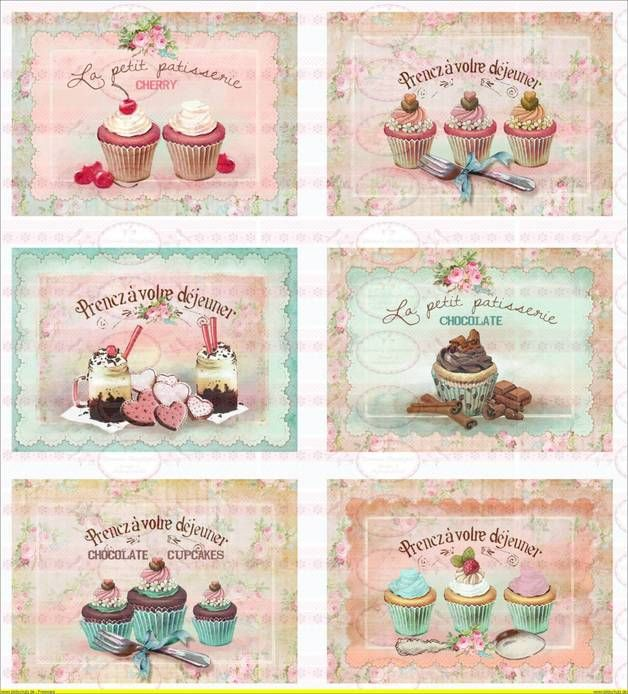 Vintage Shabby Chic french Paris Cupcake Muffin