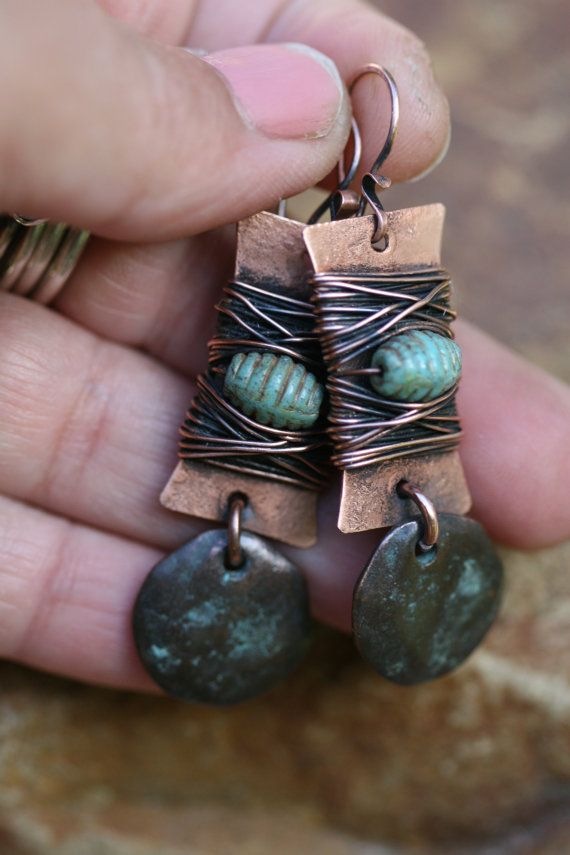 Rustic Jewelry . Alegria Alegria Series earrings n287 by Tribalis