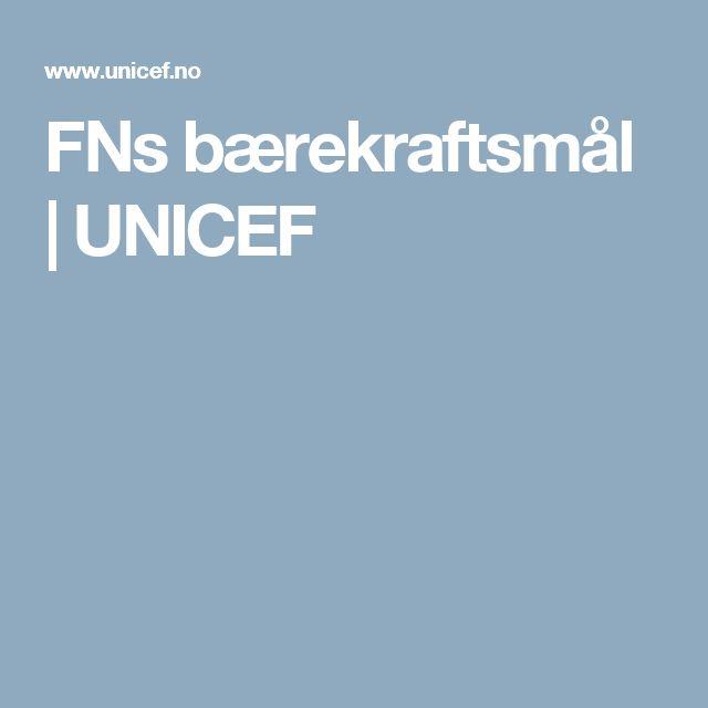FNs bærekraftsmål | UNICEF
