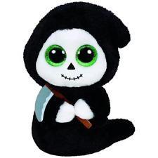 TY Beanie Boos 15cm Glubschi Grimm Geist mit Sichel Halloween Stofftier Neu