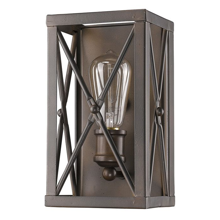 Features:  -Industrial framework for a single filament style bulb.  -Brooklyn collection.  -Number of lights: 1.  Finish: -Oil rubbed bronze.  Pieces Included: -N/A.  Bulb Type: -Incandescent.  Lighti