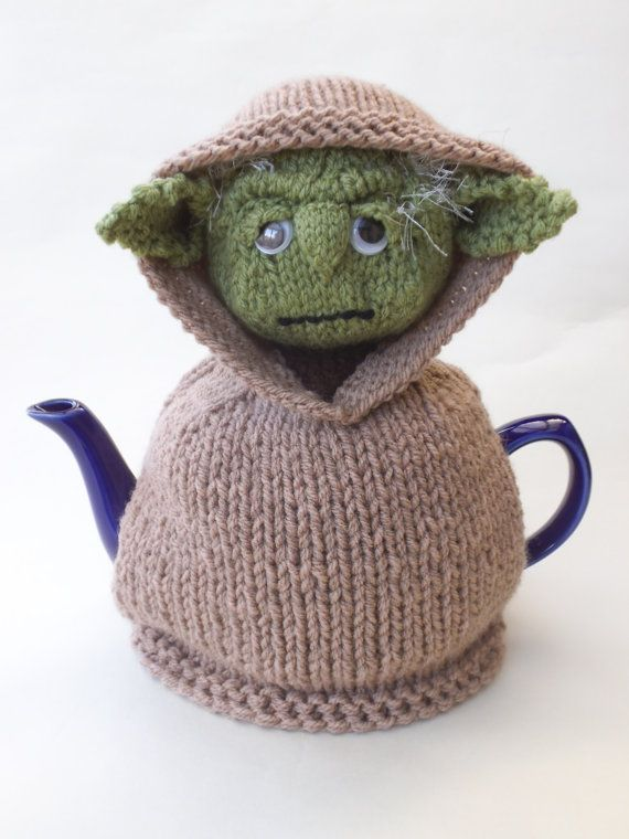 Starwars Yoda Tea Cosy Knitting Pattern by TeaCosyFolk on Etsy