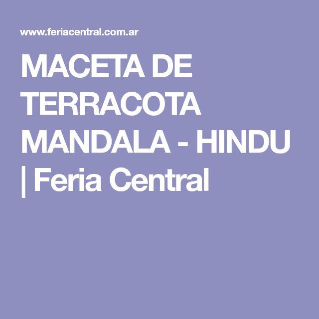 MACETA DE TERRACOTA MANDALA - HINDU   Feria Central