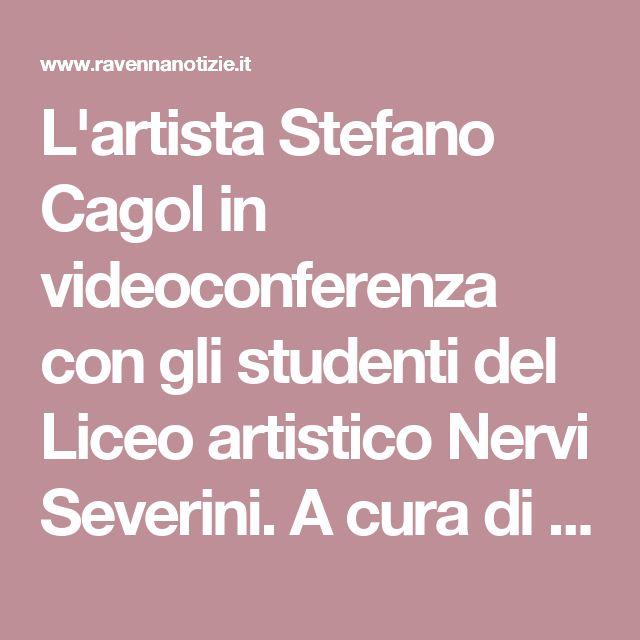 L'artista Stefano Cagol in videoconferenza con gli studenti del Liceo artistico Nervi Severini. A cura di Tobia Donà.
