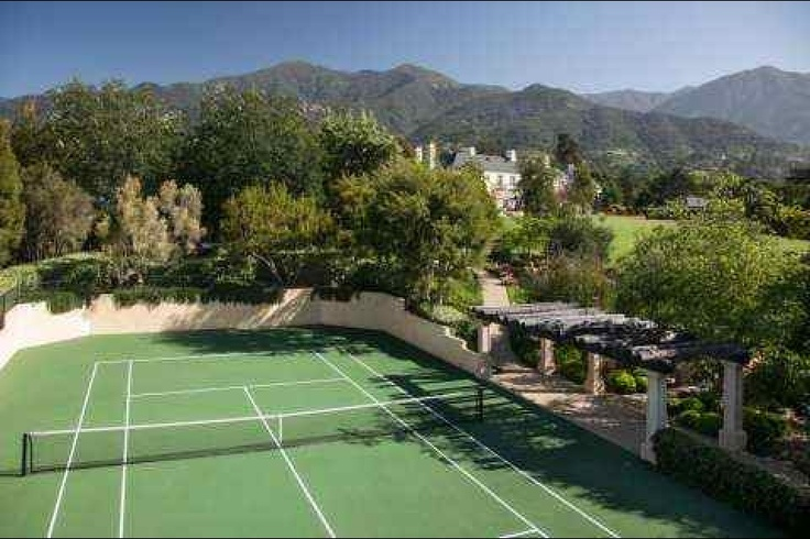 Our tennis court - and yes, we really do use it!