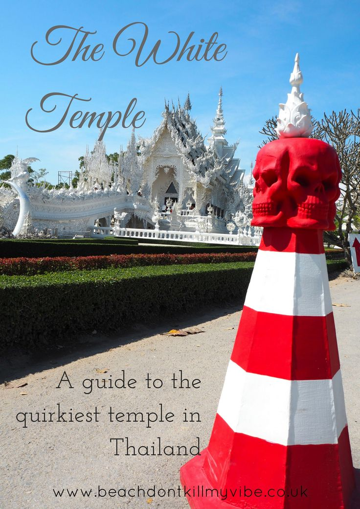 The White Temple in Chiang Rai is incredible, learn more about it here! #travelsolo #thailand #chiangrai #solofemaletravel