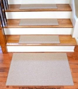 "Dean Non-Slip Tape Free Pet Friendly DIY Carpet Stair Treads/Rugs 27"" x 9"" (15) transitional-rugs"
