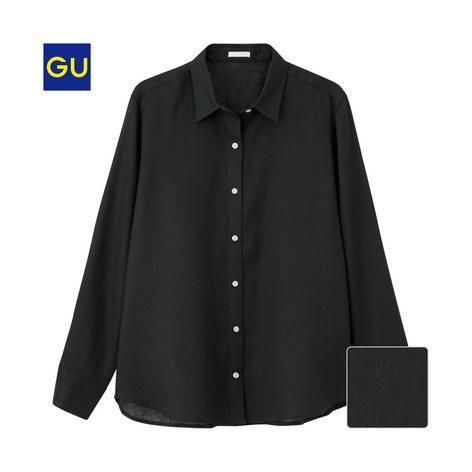 (GU)フレンチリネンシャツ(長袖) - GU ジーユー