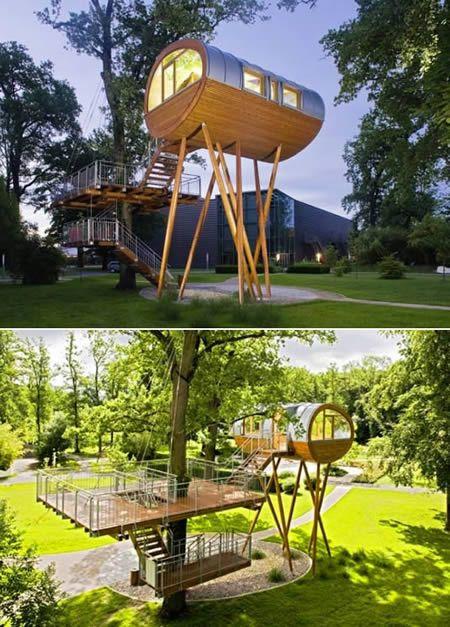 Esta es una compilación de muchas casas de árbol increíblemente logradas en distintos lugares del mundo. Casa-árbol 'Eve' Para llegar a ella tienes que cruzar un puente y subir unas escaleras de...