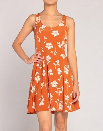 Flower Garden Dress: Flowers Gardens, Fashion Insprat, Gardens Dresses Just, Flower Gardens, Orange Flowers, Gardens Dresses Cut, Garden Dress, Gameday Dresses