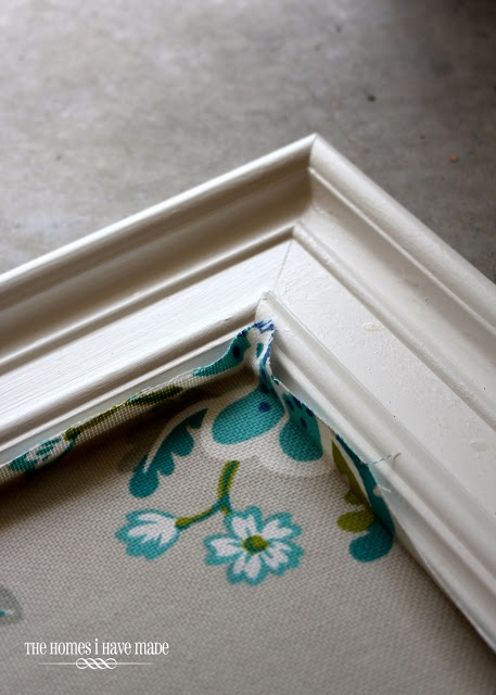 The Homes I Have Made: How To: Fabric-Covered Bulletin Board - better tutorial