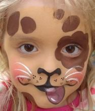 puppy face paint.maquillage enfant