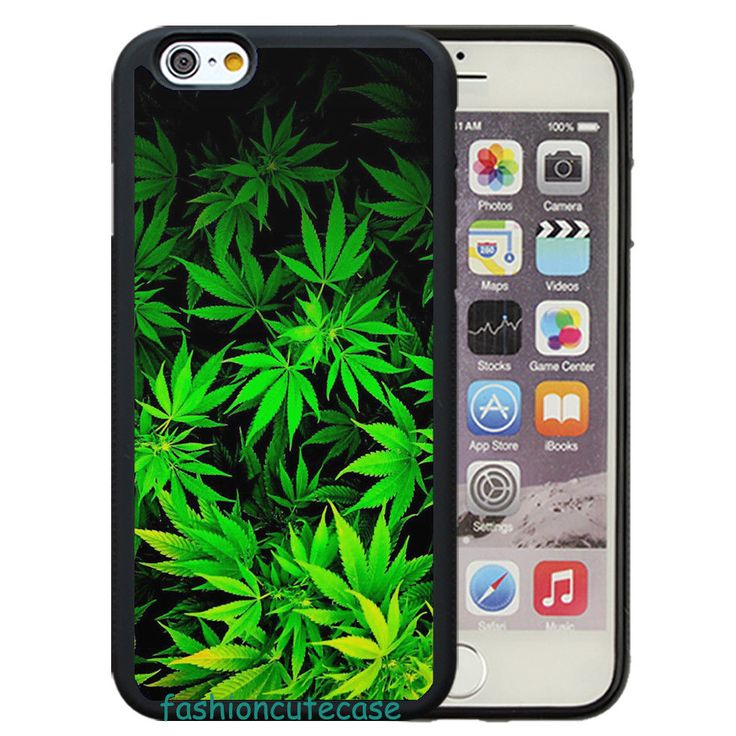 Green Weed Leaves Rubber Phone Case Cover. #UnbrandedGeneric