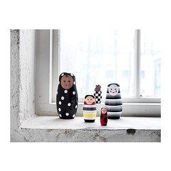 IKEA - GLASSIG, Decoratie pop, set van 5, Een kleurrijke en speelse update van traditioneel deelbare Russische houten poppen.Voegt humor en een retrogevoel toe aan je inrichting.5 figuren met verschillende afmetingen en gelaatsuitdrukkingen.Leuk om naar te kijken, over te praten en op nieuwe manieren te schikken - zet de poppen op een rijtje of in elkaar.