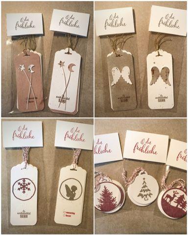 Für den Weihnachtsbasar nächsten Monat noch ein paar Tütchen mit Geschenkanhängern gebastelt...             Und schon wieder abgetaucht in ...