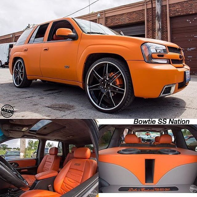 Dope Matte Wrapped TBSS Trailblazer SS orange and grey interior custom