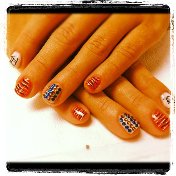 Detroit Tigers Nails!! @detroit tigers