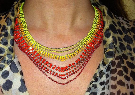 So pretty!Rhinestones Necklaces, So Pretty