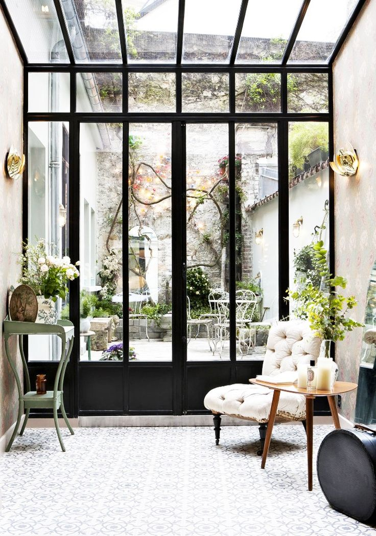 Inside a Sleek Parisian Hotel With Midcentury Details via @MyDomaine