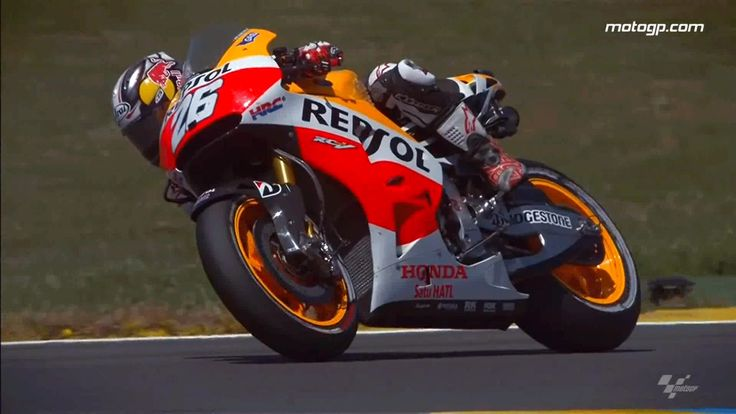 Dani Pedrosa from MotoGP™ Le Mans 2014 — Best slow motion video