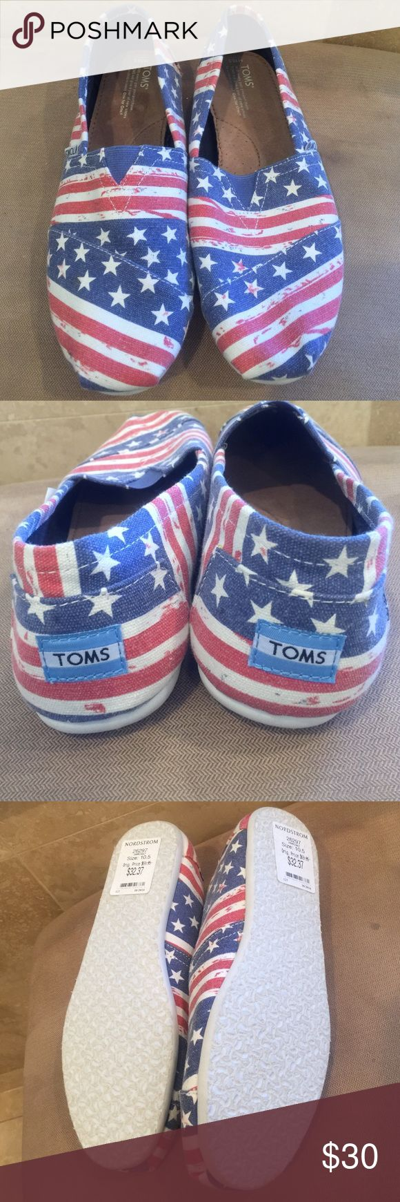 Toms Flag Shoes Size 10.5 Toms Flag Shoes Size 10.5, Brand New No Box TOMS Shoes Flats & Loafers