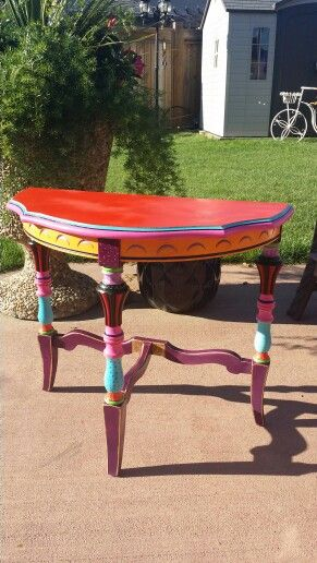 Painted table all colors