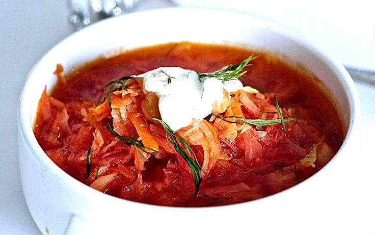 This delicious vegetarian Ukrainian Borscht is deliciously gentle with flavours of beets, cabbage and carrots with a hint of dill and garlic. The secret of the delicious flavours and textures is not to overcook the vegetables. Beets and cabbage are loaded with healthy nutrients and fiber, including them in your diet will promote excellent health.