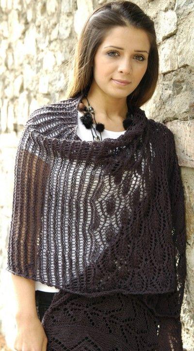 Free Knitting Pattern Women S Ponchos Jocelyn Lace