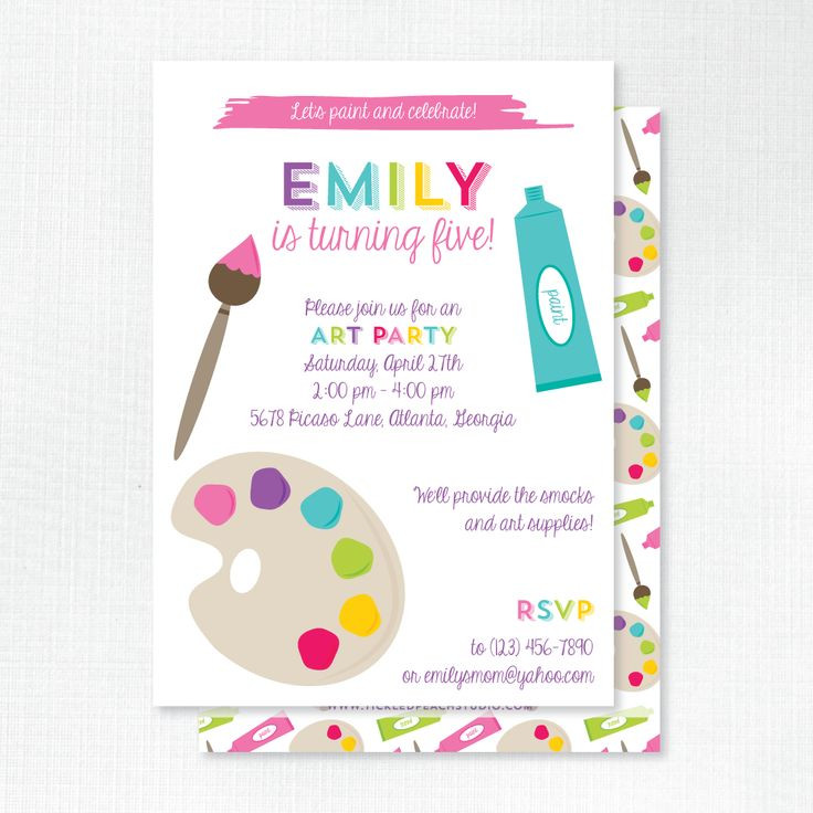 26 best Kid\'s Birthday Party Invitations images on Pinterest ...