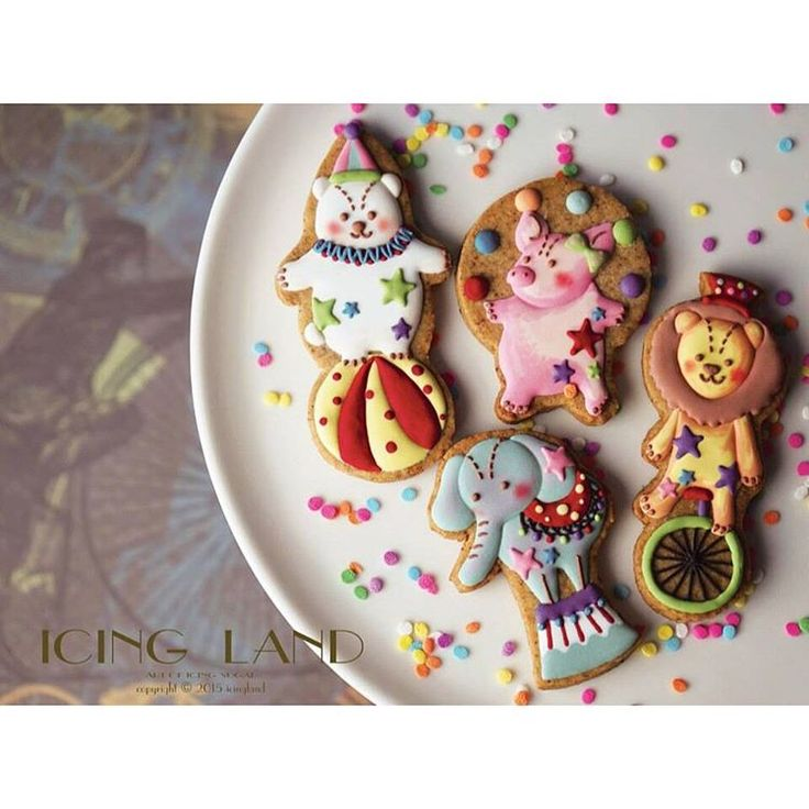 Circus themed icing cookie❤️ // Icing Land