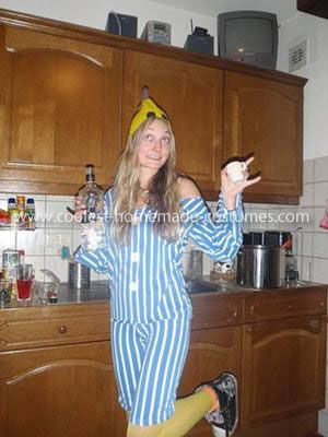 Homemade Banana in Pyjamas Costume: Being from Australia, we don't really celebrate Halloween. This Banana in Pyjamas Costume was actually made by me for carnival in Holland, but now I'm